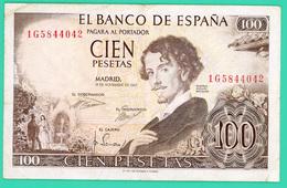 100 Pesetas - Espagne - 19/11/1965 - N° 1G5844042 - TTB - - 100 Pesetas