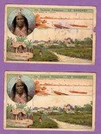 Afrique Benin Dahomey Colonies Francaisesl Oueme Et Porto Novo - Publicite Chicore La Belle Jardiniere - Le Lot De 2 - - Benin
