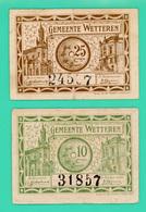 10 Centimes Et 25 Centimes - Belgique - Nécéssité - Gemeente Wetteren - 1918 - N°. 24537 / 31857 - TTB+ - - België