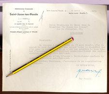 Lettre De Guy Cudell Aux Scout De Schaerbeek   1955 - Scoutisme