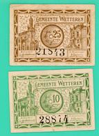 10 Centimes Et 25 Centimes - Belgique - Nécéssité - Gemeente Wetteren - 1918 - N°. 28874/21843 - TTB+ - - België