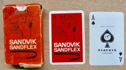 JEU DE 52 CARTES ET 3 JOKER AVEC ETUI SANDVIK SANDFLEX / MADE IN AUSTRIA PIATNIK VIENNA - Cartes à Jouer Classiques