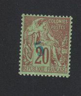 Faux Timbre Nossi-Bé N° 3 5 Sur 20 C Alphée Dubois Gomme Sans Charnière - Nossi-Bé (1889-1901)
