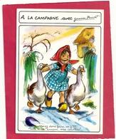 CPM . A LA CAMPAGNE Avec Germaine BOURET  -  VENEZ DONC FAIRE UN P'TIT TOUR A LA CUISINE , MES COCOTTES ! . 2 SCANES - Bouret, Germaine
