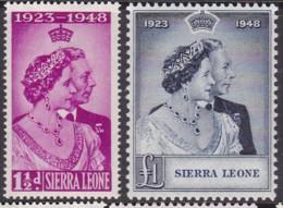Sierra Leone 1948 Silver Jubilee Sg 203-04 Mint Hinged - Sierra Leone (...-1960)