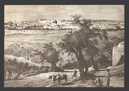 Jerusalem - By J.D. Woodward 1875-1880 - Ed. PLO (Palestine Liberation Organization) - Firm Paper 16 X 11 Cm - Palestina