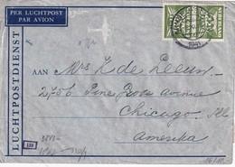 PAYS- BAS  1941 PLI AERIEN CENSURE DE ARNHEM POUR CHICAGO - Brieven En Documenten