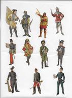 11 Militaires  De 8cm Decoupés Dans Chromos - Découpis
