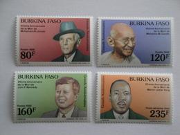1988 Burkina Faso Yv 793/5 + PA 321 ** MNH Kennedy - Gandi - Luther King  - Ali Jinnah Cote 7.00 € Michel 1190/3 - Burkina Faso (1984-...)