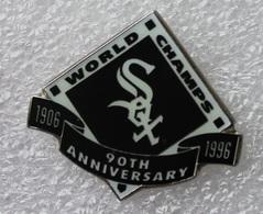 Pin's Baseball Sox World Champs 1906/1996 . 30X32 Mm . Superbe - Baseball