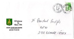 LOIRE ATLANTIQUE - Dépt N° 44 = JOUE S/ ERDRE 1989 = CACHET A9 + AUBERGE Du LION D' OR - Manual Postmarks