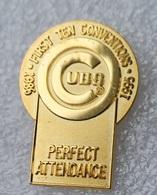 Pin's Baseball Cubs De Chicago . First Ten Conventions 1986/1995 . 24X33 Mm . Superbe - Baseball