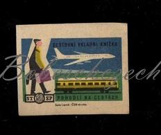 D250 CZECHOSLOVAKIA 1964 Saving Statni Sporitelna State Saving Bank Travel Passbook Comfort Man With Luggage Plane Train - Zündholzschachteletiketten
