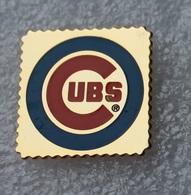 Pin's Baseball Cubs De Chicago . 23X23 Mm . Superbe - Baseball
