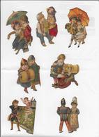 7 Scènes Couples D'enfants  De 6,7  Découpées Dans Chromos - Découpis