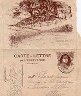 """L- Carte De L'Espérance- """"Joffre""""- """" Attaque Repoussée""""- - Marcophilie (Lettres)"""