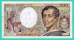 200 Francs - France - Montesquieu - 1992 - N°.C.117 / 01667 - TTB - - 1962-1997 ''Francs''
