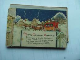 Old English Christmas Greeting Postcard - Kerstmis