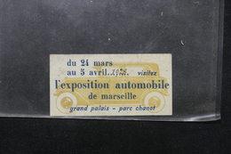 VIEUX PAPIERS - Publicité Sur L 'exposition Automobile De Marseille En 1928 - L 21884 - Voitures