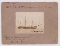 Menu Palais Du Gouvernement, St Vincent Du Cap Vert, Décembre 1895, Bateau Le Melpomène - Menus
