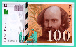 100 Francs - France - Cézanne  - 1997 - N° .T 038594287 - TTB - - 1992-2000 Ultima Gama