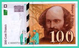 100 Francs - France - Cézanne  - 1997 - N° .C039573198 - TTB - - 1992-2000 Ultima Gama