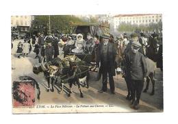 69 Lyon Place Bellecour La Voiture Aux Chevres Lyon 1907 - Autres