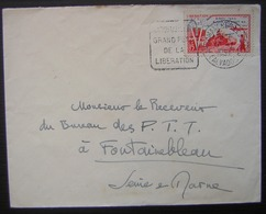 Arromanches Les Bains (Calvados) 1951 Timbre N° 983 Libération Plus Daguin Grand Port De La Libération - Postmark Collection (Covers)