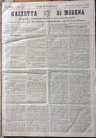 GAZZETTA DI MODENA - GIORNALE UFFICIALE N. 527 DEL Venerdi' 11 Gennaio 1861 - MODENA R. TIPOGRAFIA GOVERNATIVA - Before 1900