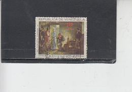 VENEZUELA  1963 - Yvert  A 887 (usato)  -  Michelon - Pittura - Venezuela