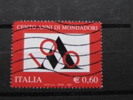 *ITALIA* USATI 2007 - CENT MONDADORI - SASSONE 3002 - LUSSO/FIOR DI STAMPA - 6. 1946-.. Repubblica