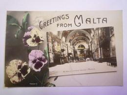 2019  (375)  GREETINGS  From  MALTA   1914   - Malta