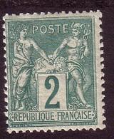 Sage 1876 - 5 C. Vert-jaune Type (2) - Y&T N° 74 Neuf - 1876-1898 Sage (Type II)