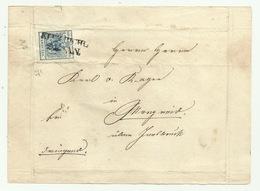 FRANCOBOLLO DA 9 KREUZER  1855 SU FRONTESPIZIO - Oblitérés