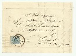 FRANCOBOLLO DA 9 KREUZER WIEN  1856  SU FRONTESPIZIO - Gebruikt