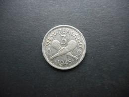 New Zealand 3 Pence 1945 George VI - Nouvelle-Zélande