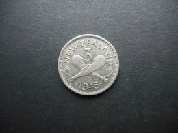 New Zealand 3 Pence 1945 George VI - Nueva Zelanda