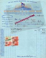 BELGIQUE- LODELINSART-RARE FACTURE ETABLISSEMENTS CROIX BLEUE-FABRIQUE VINS MOUSSEUX-CHAMPAGNE-1933 - Old Professions