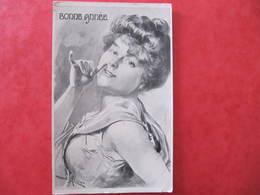 CPA - Illustrateur : LE ROUX - BONNE ANNEE - FEMME 1900 - C. Fontaine Editeur - Illustrators & Photographers