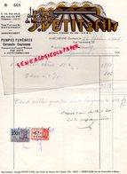 BELGIQUE- MARCHIENNE DOCHERIE- RARE FACTURE J. PETIT & FILS- ATELIER MECANIQUE MENUISERIE-MENUISIER-POMPES FUNEBRES-1949 - Old Professions