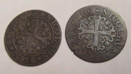 Suisse - Canton De Fribourg - 2 Monnaies De 2 Kreuzer 1788 - TTB - Diam. 22 Mm, Poids/Monnaie : Env. 1,50 Grammes - Suisse