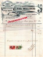 BELGIQUE- GOSSELIES CHAUSSEE DE FLEURUS- FACTURE FELIX HELLEBOIS-PLOMBERIE ZINGUERIE-PLOMBIER ZINGUEUR-1933 - Old Professions