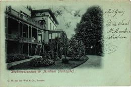 The Netherlands, Arnhem, Diakonessenhuis Te Arnhem, Tuinzijde, Old Postcard 1901 - Arnhem