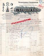 BELGIQUE- GILLY -JENSON- FACTURE VVE LEOPOLD FRERE- TUYAUTERIES CHAUDRONNERIE CUIVRE-ACIER-TUYAU-1919 - Old Professions