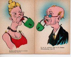 Humour: Lot De 7 Cartes : Langue Bien Pendue - Humour