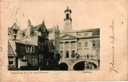 The Netherlands, Dordrecht, Stadhuis, Old Postcard Pre. 1905 - Dordrecht