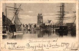 The Netherlands, Dordrecht, Kalkhaven, Old Postcard 1901 - Dordrecht
