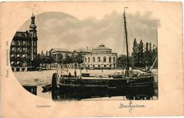 The Netherlands, Amsterdam, Aquarium, Old Postcard 1901 - Amsterdam