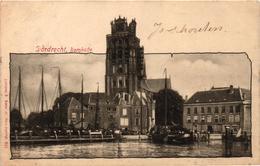The Netherlands, Dordrecht, Bomkade, Old Postcard 1900 - Dordrecht