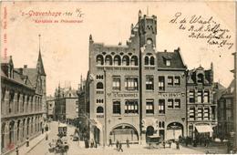 The Netherlands, Den Haag, S-Gravenhage, Kerkplein En Prinsestraat, Old Postcard 1901 - Den Haag ('s-Gravenhage)